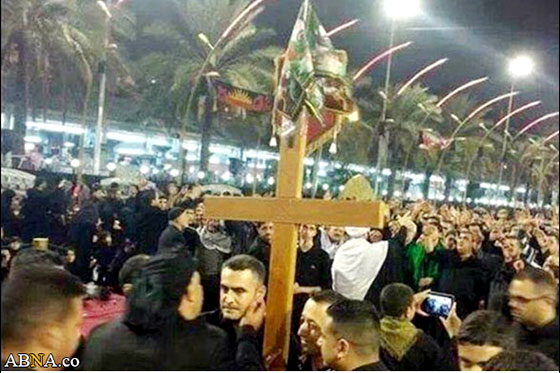 صلیب جنجال آفرین در بین الحرمین + عکس