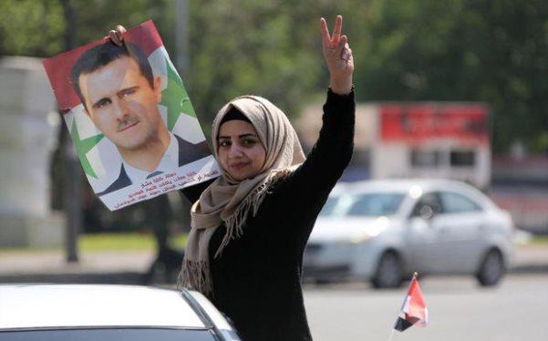 تصاویر/ حامیان بشار اسد در خیابانها