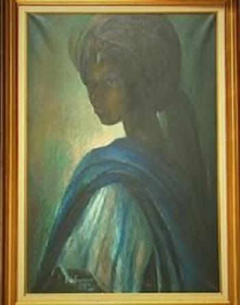 نمایش تابلوی «مونالیزا» ی نیجریه پس از 40 سال مفقودی! +عکس